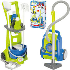 Ecoiffier Putzwagen mit Besen, Feudel & Staubsauger Kinder Spielzeug Putzzeug