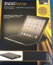 ZAGG Carbon Fiber Textured Folio For iPad 2 / 3 / 4 -Black ZAGG FOLIO COVER CASE
