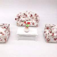 1:12 DOLLHOUSE MINIATURE FURNITURE VINTAGE SOFA ARMCHAIR COUCH DECOR TOY PERFECT