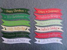 CHRISTMAS CARD MAKING BANNERS *12 CHRISTMAS SENTIMENTS* CHRISTMAS EMBELLISHMENTS