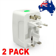 2 Pack All in One Universal World Travel Power Charger AC Adapter Plug AU UK USA