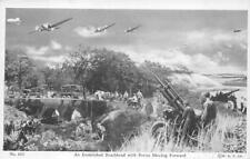 AN ESTABLISHED BEACHHEAD WITH FORCES MOVING FORWARD MILITARY POSTCARD (1944)
