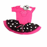Sparkle Pink Minnie Mouse Baby Grow Tutu Skirt Set Girls Fancy Dress Costume