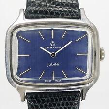 """Certina """"Jubile"""" Edelstahl Herren Armbanduhr 1970er Jahre - New Old Stock"""