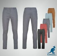 Mens Branded Kangol Classic 5 Pockets Chino Pants Straight Leg Trousers