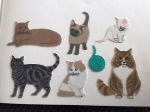 Sticker 90er fürs Stickeralbum * Sandylion Katzen MAXI Fuzzy * Stoff Filz BIG