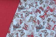 (EUR 21,58/m) Stoffpaket Softshell Schmetterlinge 1,00m+0,20m=1,20m (Art 789)
