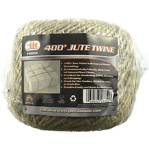 400' PREMIUM ALL NATURAL JUTE TWINE STRING HEAVY DUTY Cord Rope Craft Gift DIY
