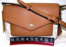 Michael Kors Greenwich Small Flap Crossbody Vanilla PVC Signature Acorn Leather