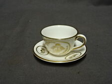 Collectable SPODE Miniature Cup & Saucer - White & Gold - Angel