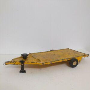 Vintage ERTL Flatbed Implement Trailer Yellow 1/16