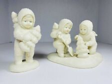 """2~Snowbabies Figurines """"We'll Plant The Starry Pines� Planting Christmas Trees🎄"""