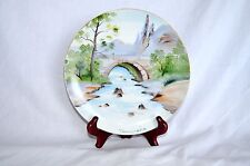 Vintage Decorative Plate By Ucagco Japan Wall Decoration Hand Painted Signed