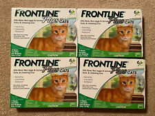 Frontline Plus Flea and Tick Treatment for Cats - 6 Month Doses - 4 Packs- New