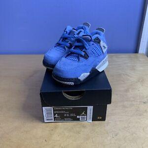 Nike Air Jordan 4 Retro University Blue Baby Toddler Size 4c Style: BQ7670-400