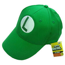 Super Mario Bros Luigi L Letter Cap Sport Baseball Hat Summer Adjustable Green