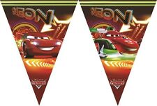 Disney Pixar Cars Neon Flag Pennant Banner / Bunting Party Decoration