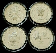 1993 STERLING SILVER PROOF CROWN ELIZABETH CORONATION ANNIVERSARY CHOOSE COUNTRY