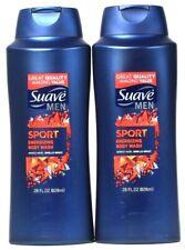 2 Bottles Suave Men 28 Oz Sport Clean Rinsing Rich Lather Energizing Body Wash