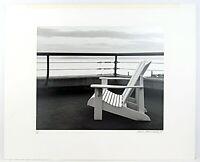 Black & White Art Photography Print Adirondack Chair Overlooking Seattle Horizon
