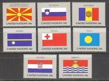 U.N. 2001 MNH Flag singles