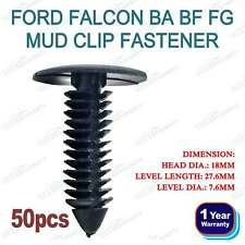 50xFor Ford AU BA BF FG Plastic Mud Flap Clip Retainer Falcon XR6 XR8 G6E Turbo