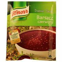 Knorr Barszcz Czerwony Red Borscht Mix 53g Bag (3-Pack) Free Shipping