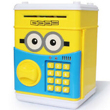 Minions Electronic Yellow Piggy Bank Saving Pot Money Bank Coins Cash