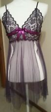 """Unbranded Sexy Purple Nightgown I think Large 13 1/2"""" Across pkg says 2X"""