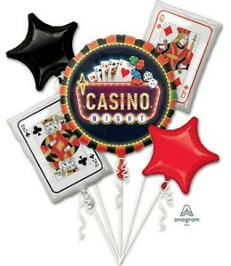 Roll the Dice- Casino Balloon Bouquet ~ 5pc Birthday Decorations Party Supplies