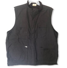 Alaskan Clothing Co Men's Outdoor Vest XL Black Nylon Fleece Lined