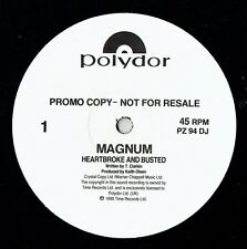 """MAGNUM - 12"""" - Heartbroke And Busted. 3 Track Promo.  Polydor"""