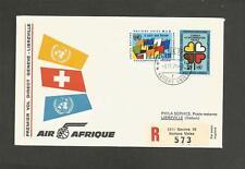 UNITED NATIONS -1971 REGISTERED COVER - GENEVA TO LIBREVILLE.