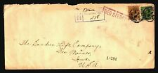 Canada 1926 Registered Cover / Small Top Tear Between Stamps - Z15780