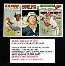 1977 TOPPS BASEBALL #1 TO #250 SELECT FROM OUR LIST