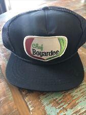 Vintage Chef Boyardee Black Leather Strap Back Hat