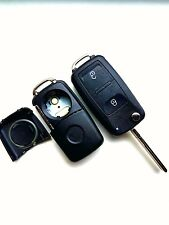 VW Caddy California Campervan 2 Button Flip Remote Key Fob Case Blank HAA Blade