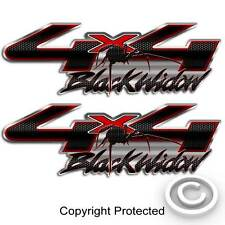 Spider 4x4 Truck Decal Black Widow Carbon Fiber Sticker compatible with Ford