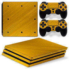 Sony PS4 PlayStation 4 Pro Skin Sticker Screen Protector Set - Gold Motif