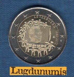 2 Euro Commémo Luxembourg 2015 Drapeau Européen SUP SPL de Rouleau Letzebuerg