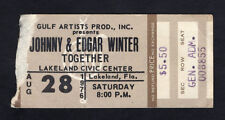1976 Johnny Winter & Edgar Winter Concert Ticket Stub Lakeland Florida