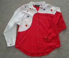 Genuine US cowboy girl shirt Panhandle Slim size M  14 top condition star button