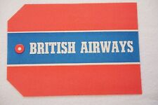 More details for british airways vintage airline luggage label ref 2