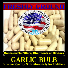 GARLIC BULB Only With Absolutely No Additives High Potency 100 Veg Capsules