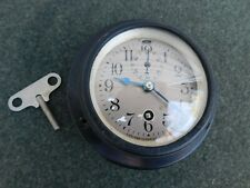 Antique 1920's Maritime Nautical Chelsea Ship Deck Clock In Working Condition