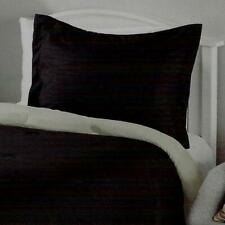 New 2 Pack - Black Pillow Shams Standard Size