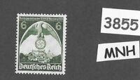 #3855     MNH 1935 Nuremberg Congress stamp / PF06 Sc 465 Third Reich Germany