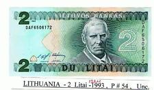 Lithuania - 2 Litai 1993 P#54 UNC!