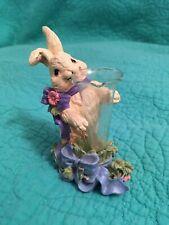 Midwest Resin 4� White Bunny Rabbit Holding Glass Vase