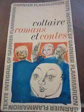 Voltaire: Romans et Contes/ Garnier-Flammarion